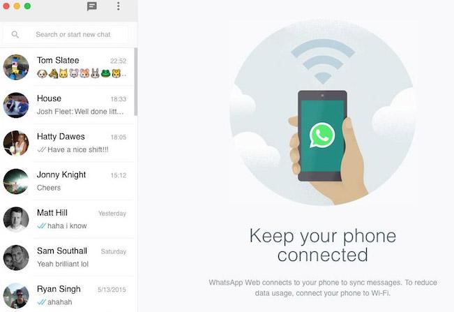 Llega Whatsapp Web para IOS