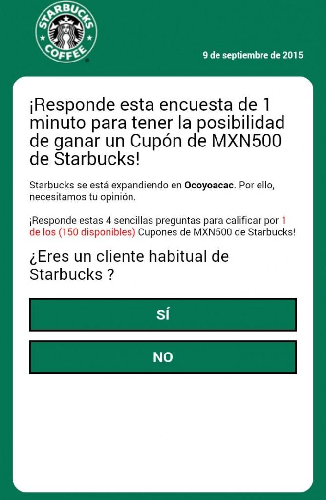 Mensaje viral Starbucks