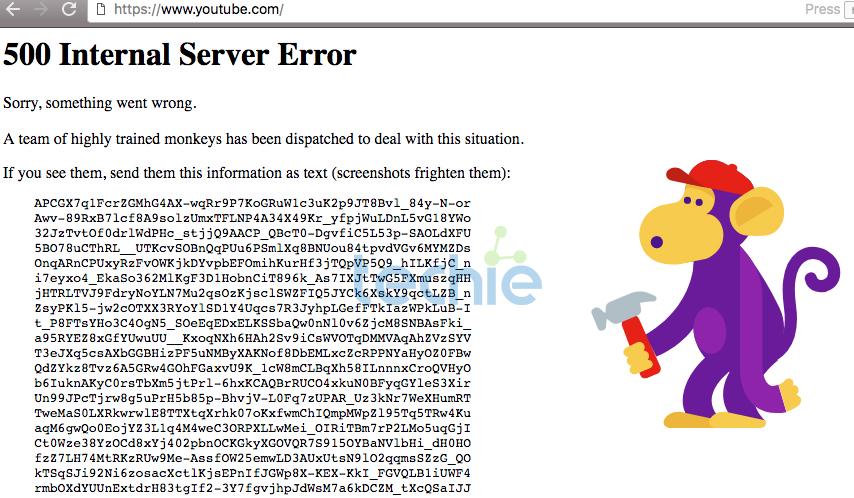 Youtube se cae por unos minutos a nivel mundial