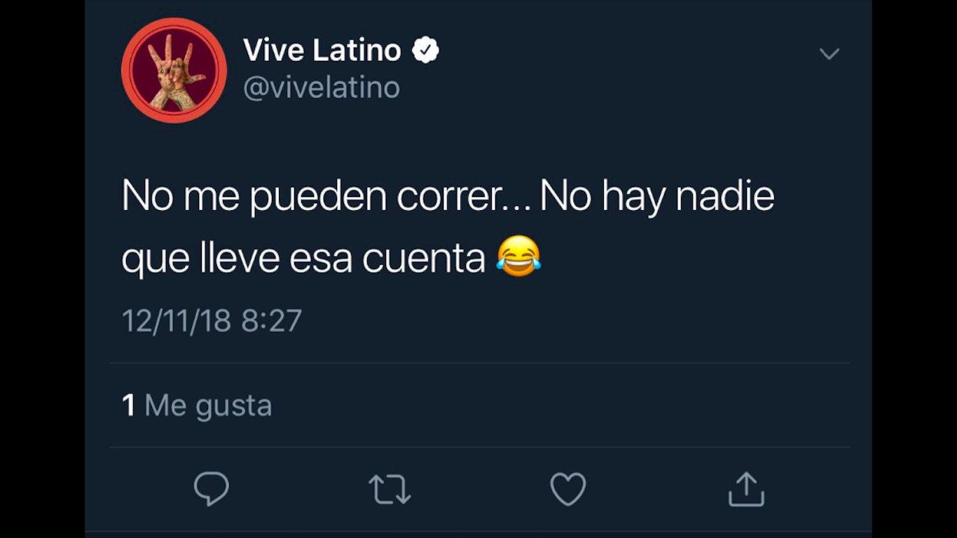 Community Manager del Vive Latino publica su inconformidad en redes