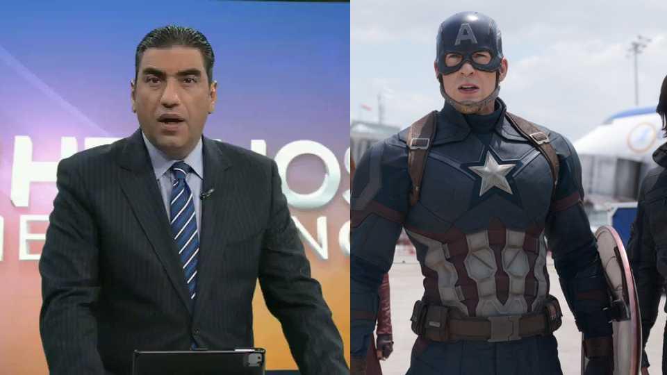 Noticiero confunde escena de 'Capitán América: Civil War' con accidente real