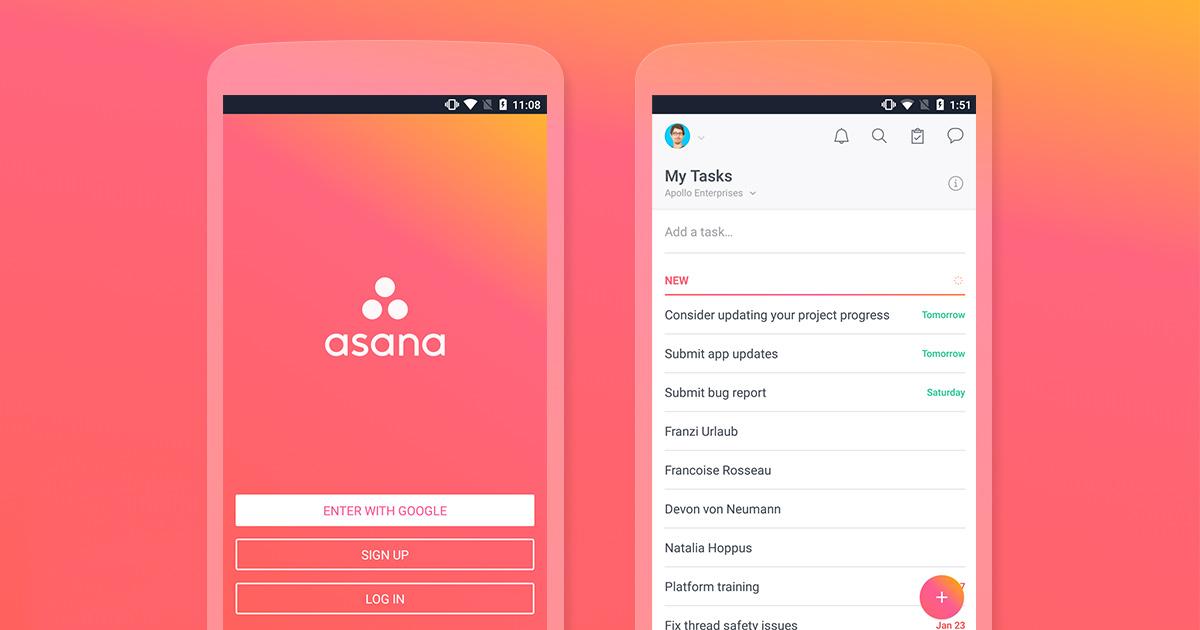 Las mejores aplicaciones de 2018, según Google Play Asana