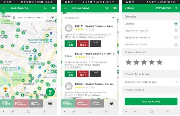 Apps que te dicen en dónde puedes encontrar gasolina 3