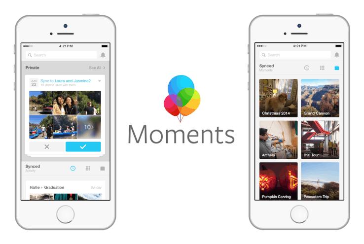 Facebook cerrara su app Moments el 25 de febrero