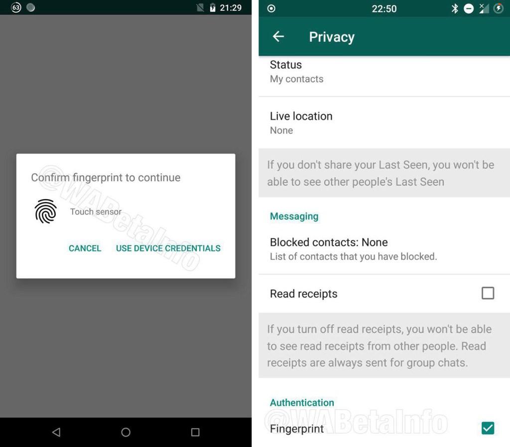WhatsApp ya tendrá bloqueo con huella dactilar