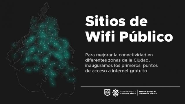 El gobierno de la CDMX inaugura 90 puntos de Wifi gratuito