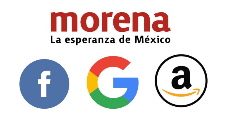 Morena busca cobrar impuestos a gigantes como Google, Amazon y Facebook