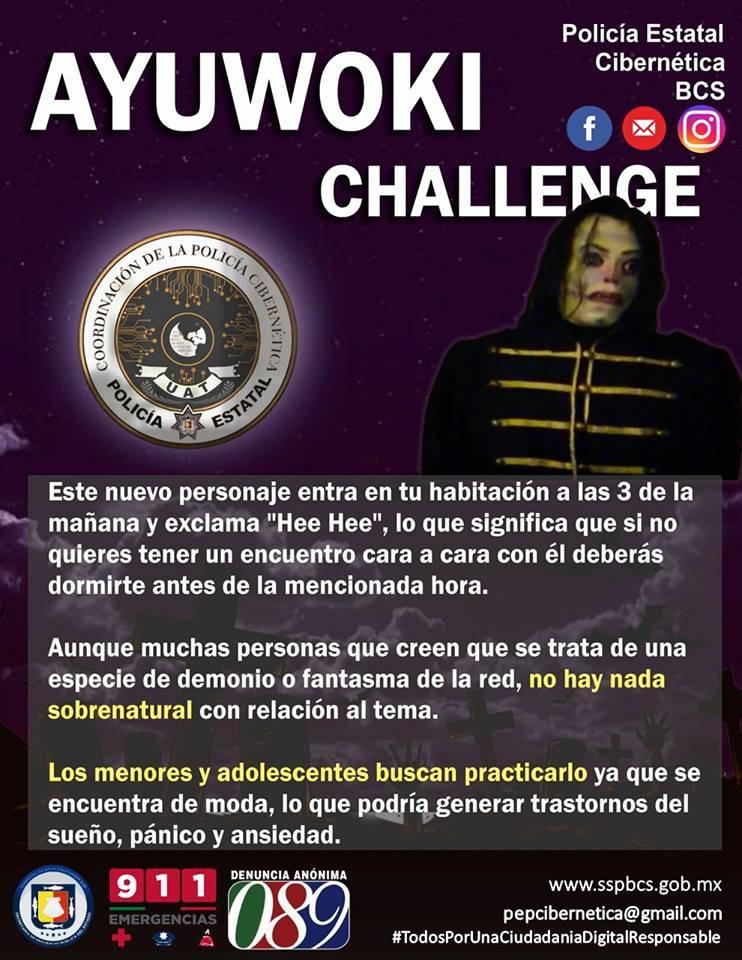 """Policía Cibernética en México emite una alerta por el """"Ayuwoki"""""""