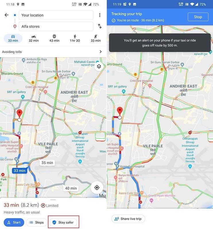 Google Maps alertará a los usuarios cuando un vehículo modifique su ruta 2