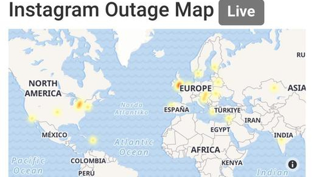 Instagram se cae en varias partes del mundo