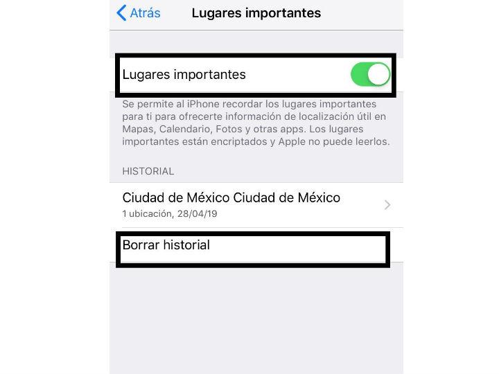 Tu iPhone guarda los lugares que visitas, así puedes borrar el registro