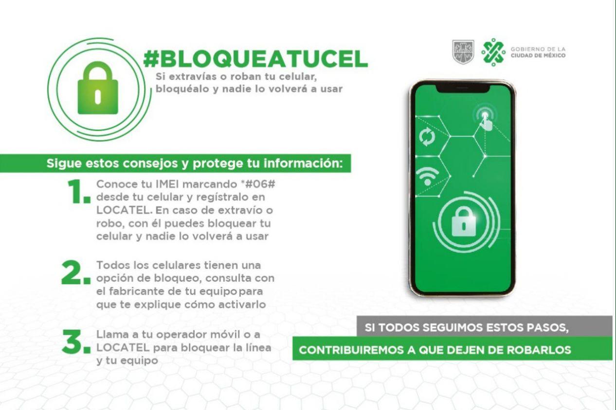 #BloqueaTuCel, iniciativa contra el robo de celulares en la CDMX
