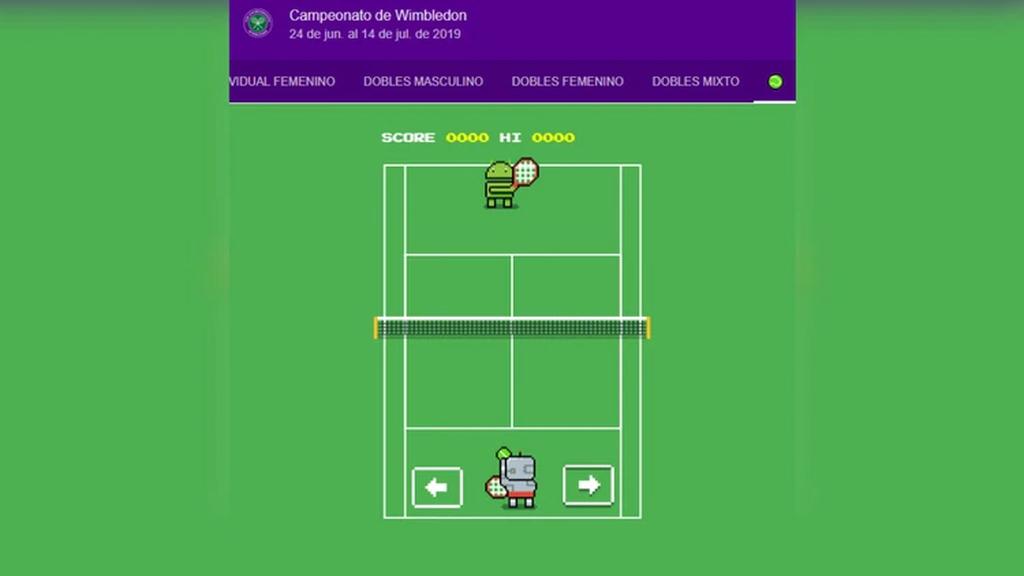 Google conmemora Wimbledon con un minijuego de tenis en el navegador