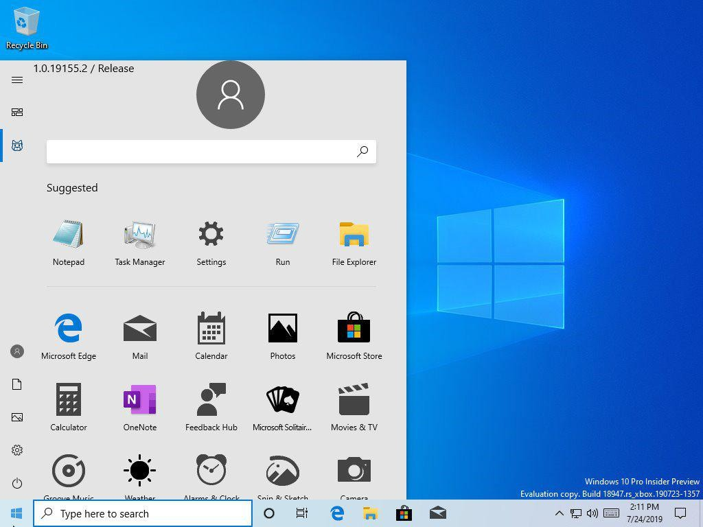 Microsoft revela por error un nuevo menú Inicio de Windows 10