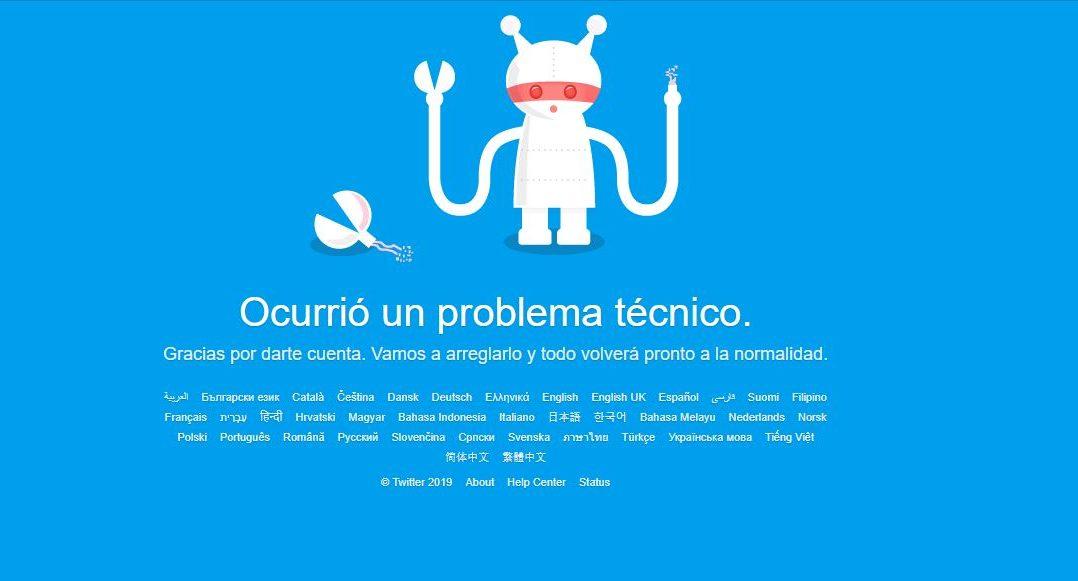 Twitter sufre una caída a nivel mundial