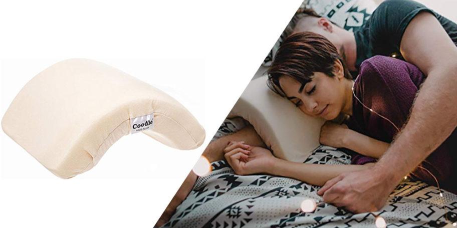 """Crean almohada para dormir de """"cucharita"""" y que no se duerma el brazo"""