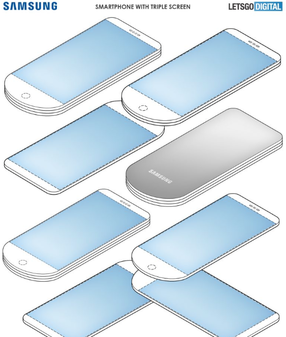 Samsung patenta dispositivo con 3 pantallas desplegables 3