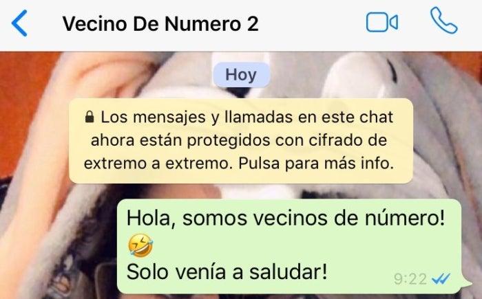 'Vecino de número', el nuevo reto viral en WhatsApp