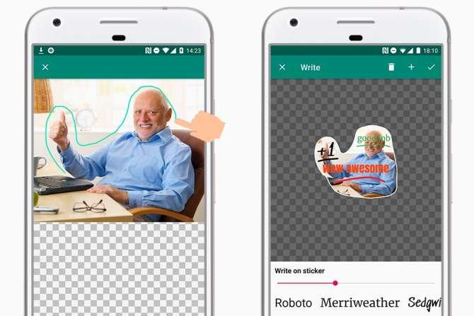 Aprende a crear stickers con texto para WhatsApp