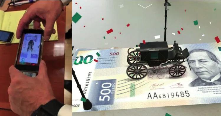 La nueva app de realidad aumentada para los billetes de 200 y 500 pesos