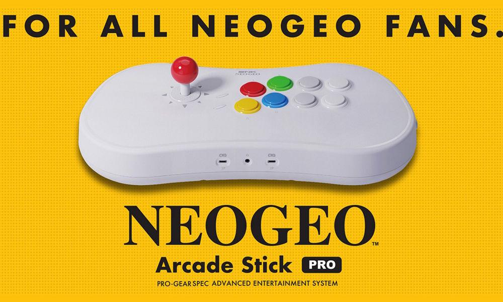 SNK anuncia el NeoGeo Arcade Stick Pro, la consola con 20 juegos preinstalados