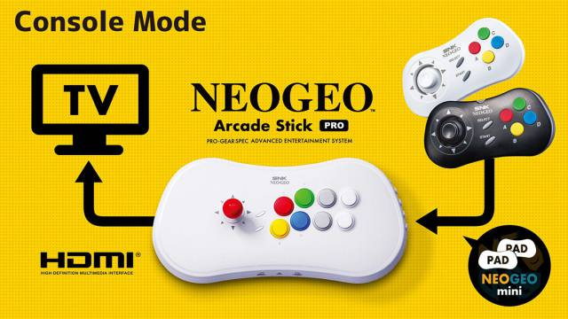 SNK anuncia el NeoGeo Arcade Stick Pro, la consola con 20 juegos preinstalados 2