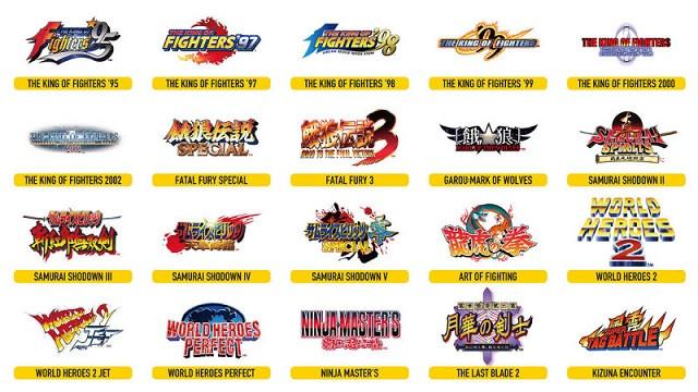 SNK revela los 20 títulos que incluirá el nuevo Neo Geo Arcade Stick Pro 2