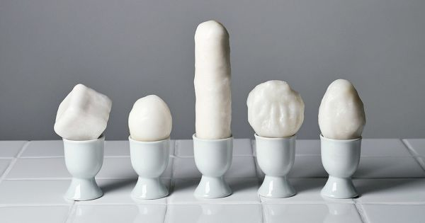 Crean un huevo sin gallina en Alemania y su apariencia es muy extraña