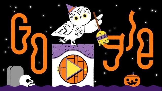 Google celebra Halloween con un Doodle interactivo