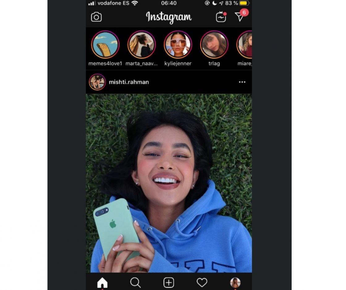 Instagram también tendrá modo oscuro en iOS y Android