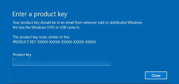 Instala Windows 10 con las claves genéricas de Microsoft