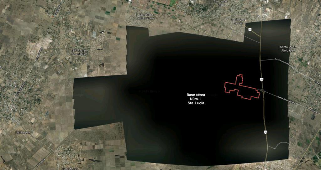 ¿Por qué el aeropuerto de Santa Lucía no se ve en Google Earth?