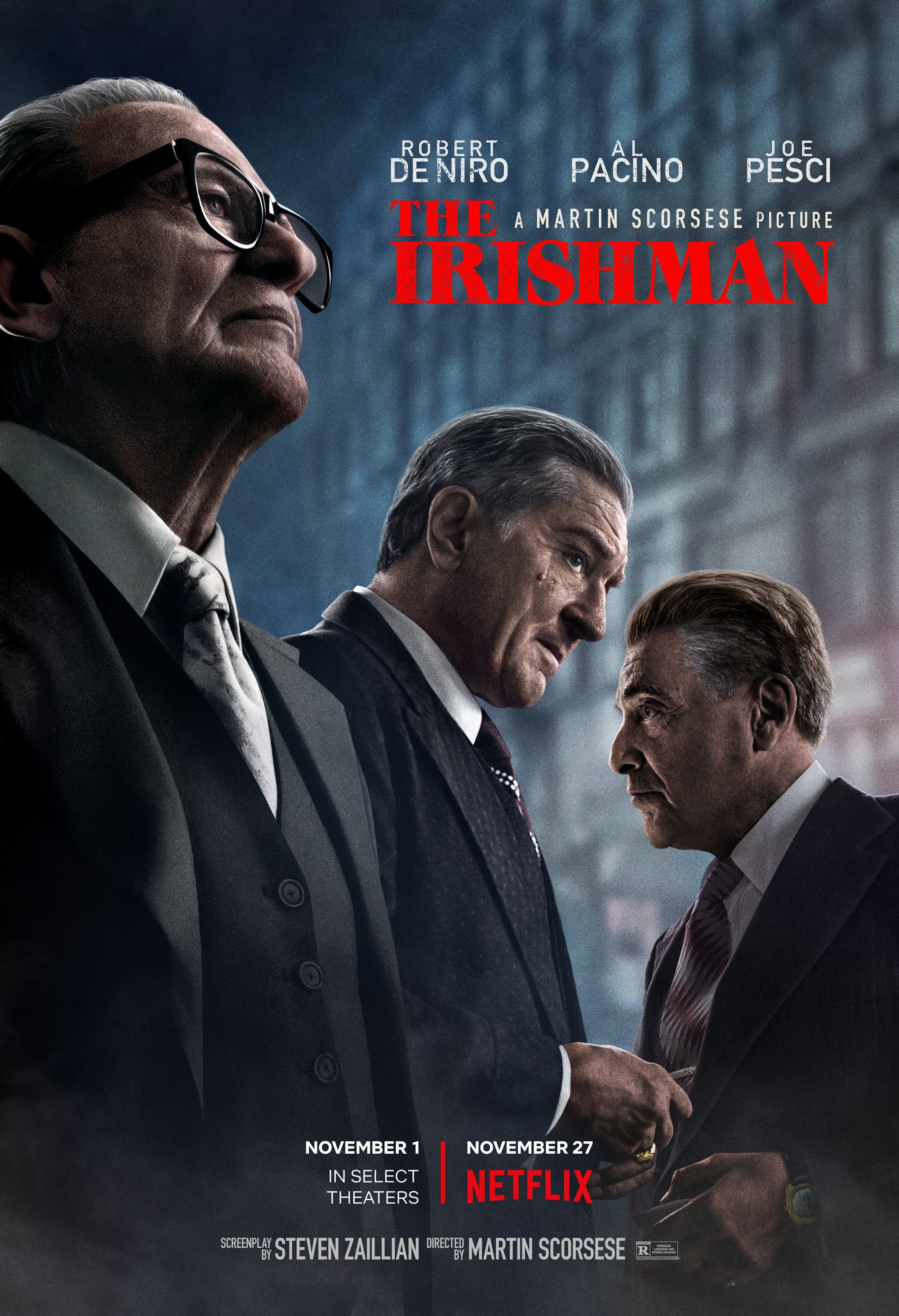 The Irishman y todo lo que llega a Netflix en Noviembre