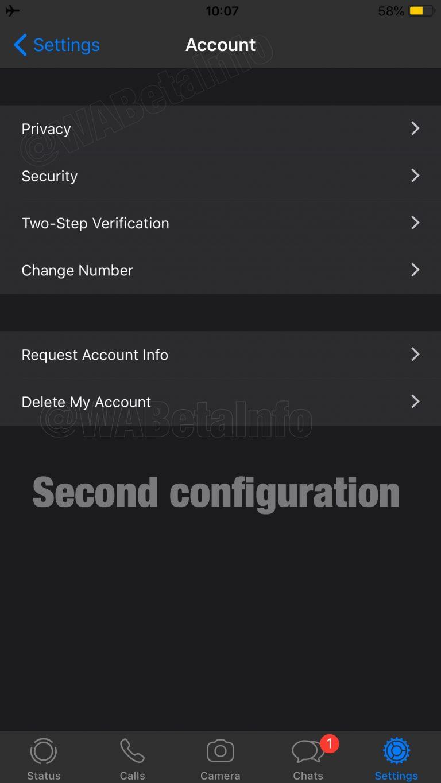 Así lucen los dos modos oscuros de WhatsApp para iPhone 2