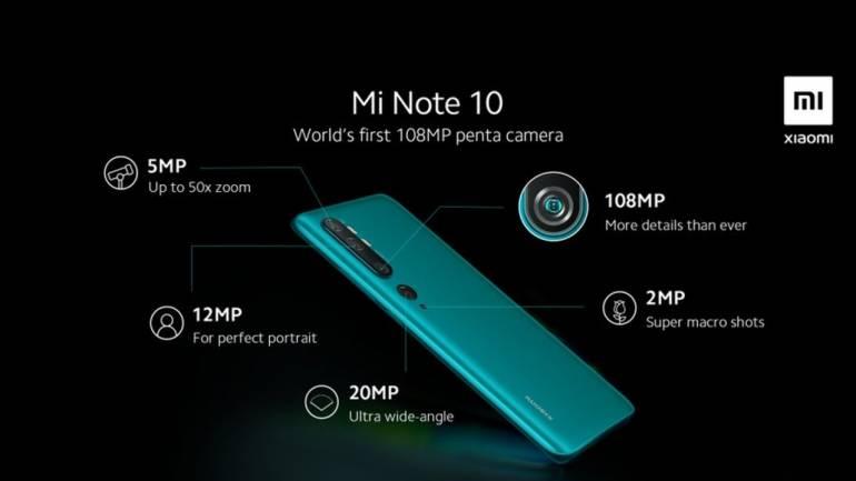 Mi Note 10, el smartphone de Xiaomi con 5 cámaras y 108 megapixeles