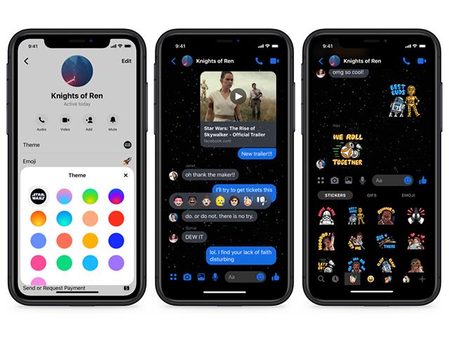 Cómo activar el nuevo tema de Star Wars en Facebook Messenger 2