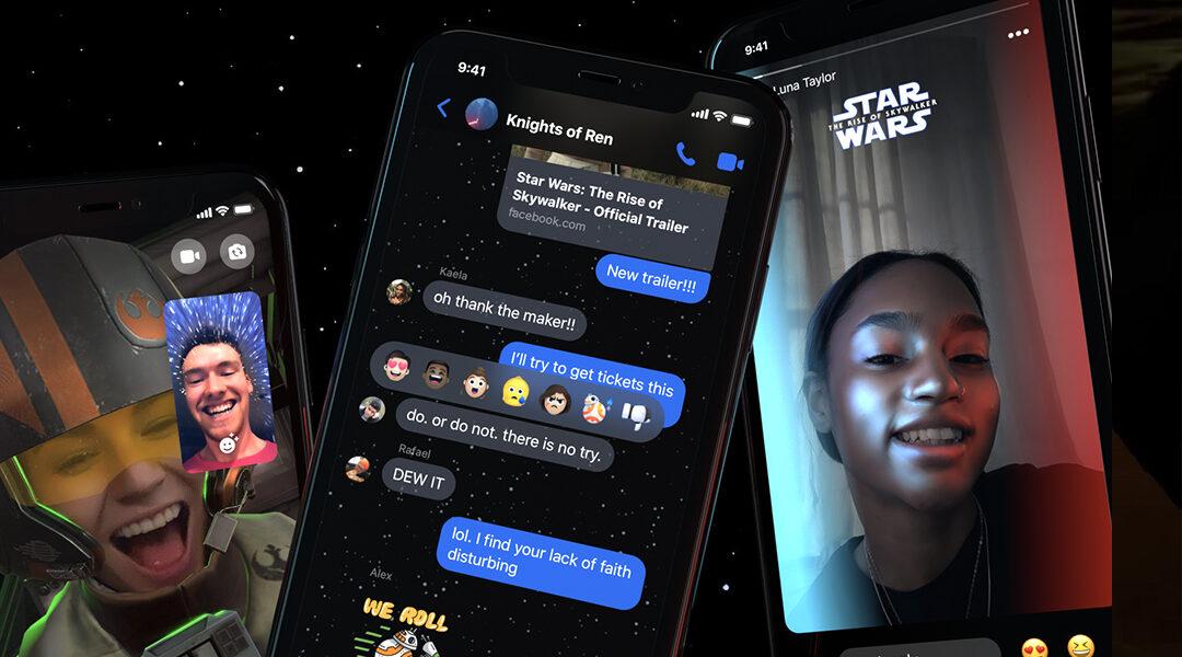 Cómo activar el nuevo tema de Star Wars en Facebook Messenger