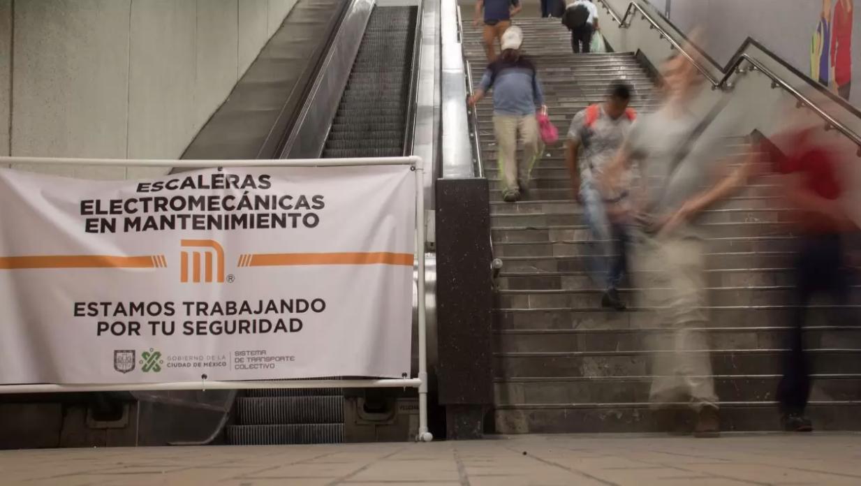 La orina es la causa del 25% de las fallas en escaleras eléctricas del Metro