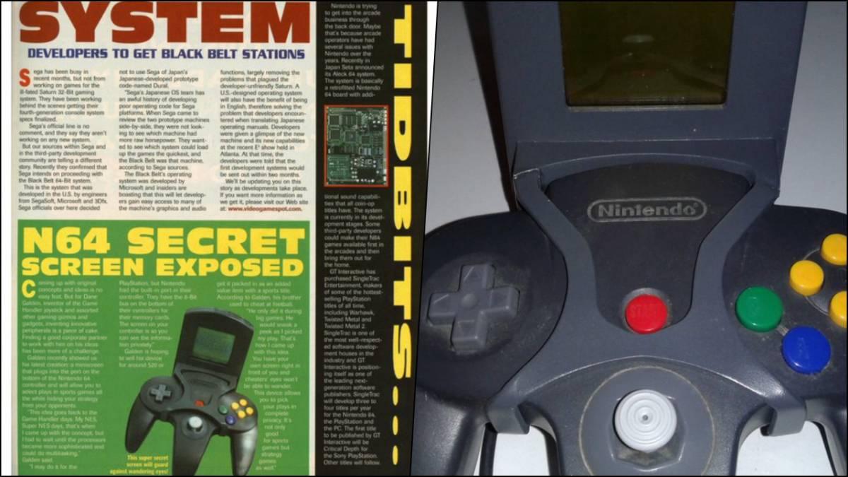 Secret Screen, el accesorio de Nintendo 64 que nunca salió a la venta