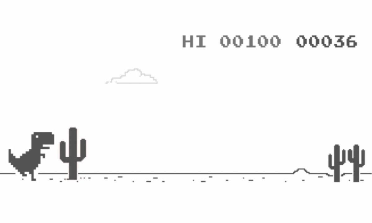 Esto ocurre cuando terminas el juego del dinosaurio de Chrome