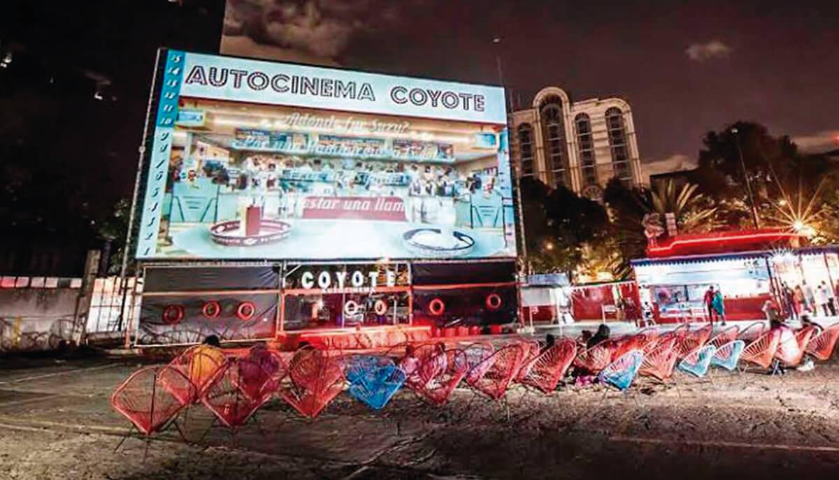 Autocinema Coyote ofrecerá funciones gratuitas y tu azotea puede ser una de ellas