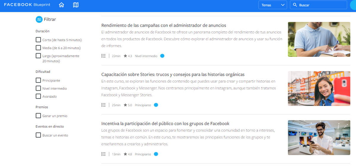 Facebook anuncia 15 nuevos cursos de marketing digital para pymes 2