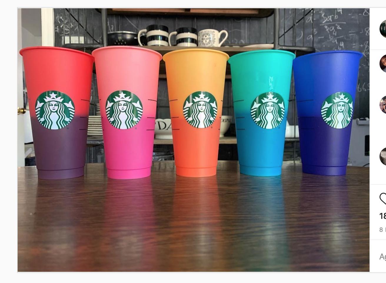Starbucks lanzará colección de vasos que cambian de color con el frío