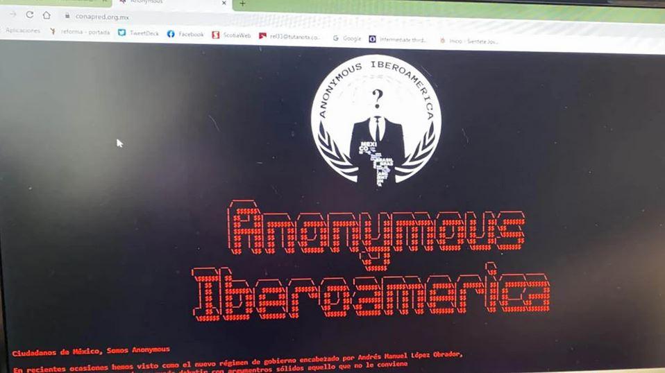 Anonymous hackea sitio web del Conapred, acusan a AMLO por censura