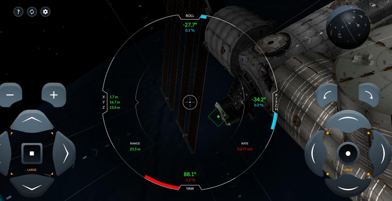 simulador de su SpaceX Dragón 2