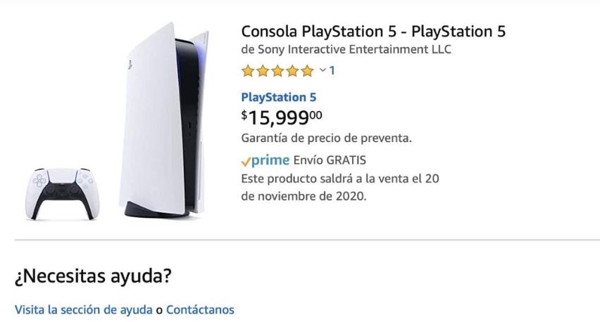 PlayStation 5: filtran posible precio en Amazon México