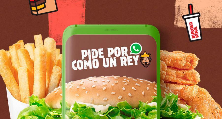 Ahora Burger King permite hacer pedidos por WhatsApp