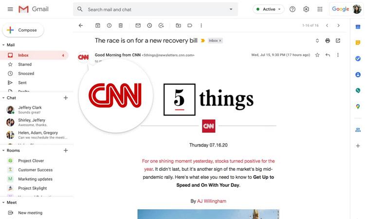 Gmail mostrará cuentas verificadas para reducir el phishing