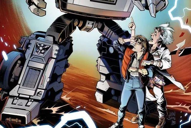 Primeras imágenes del crossover de Transformers y Back to the Future