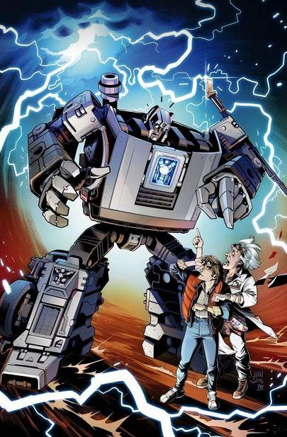 Primeras imágenes del crossover de Transformers y Back to the Future 4